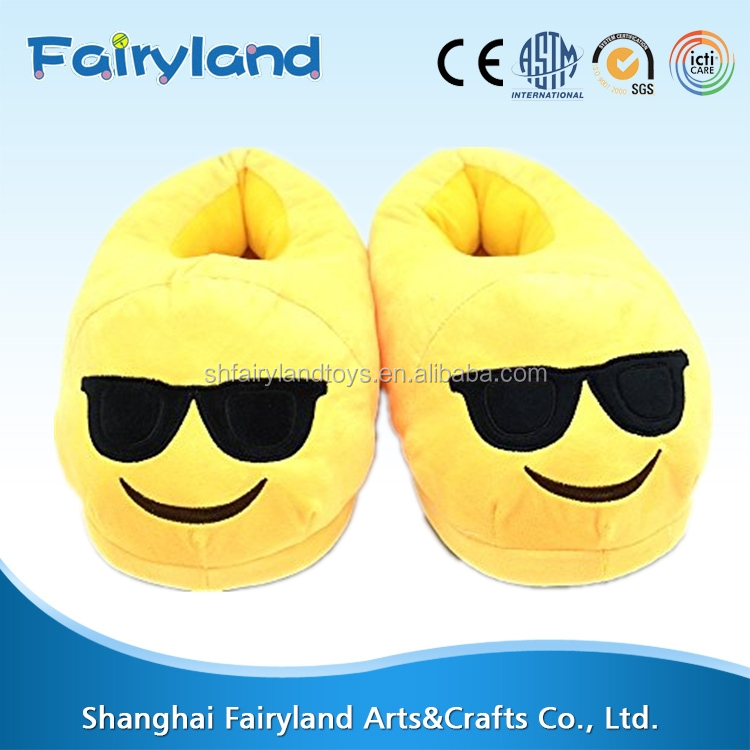 Emoji Slippers Adult Funny Expression Cute Warm Indoor Bedroom Plush Shoes