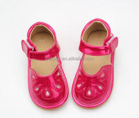 Outdoor Toddler Sandal Shiny Red Girls Children Squeaky Shoes