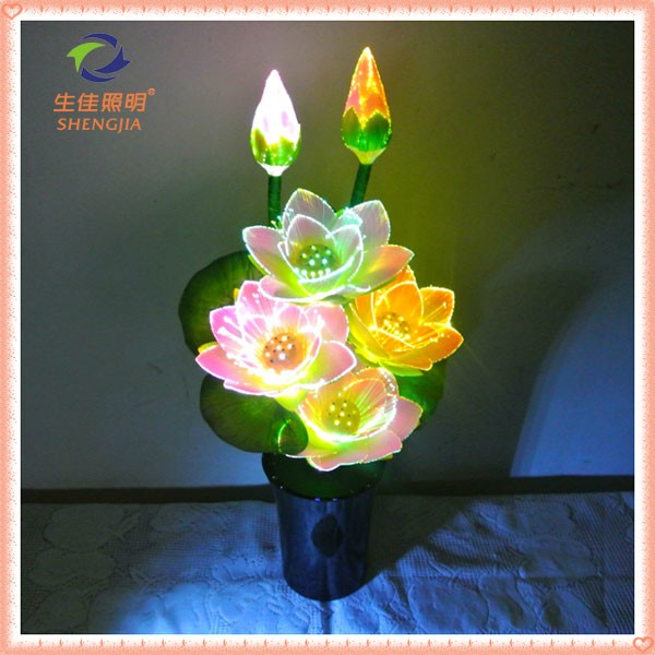 The best factory price attractive flashing all optical fiber flowers from Professional factory manufacture artifical flower