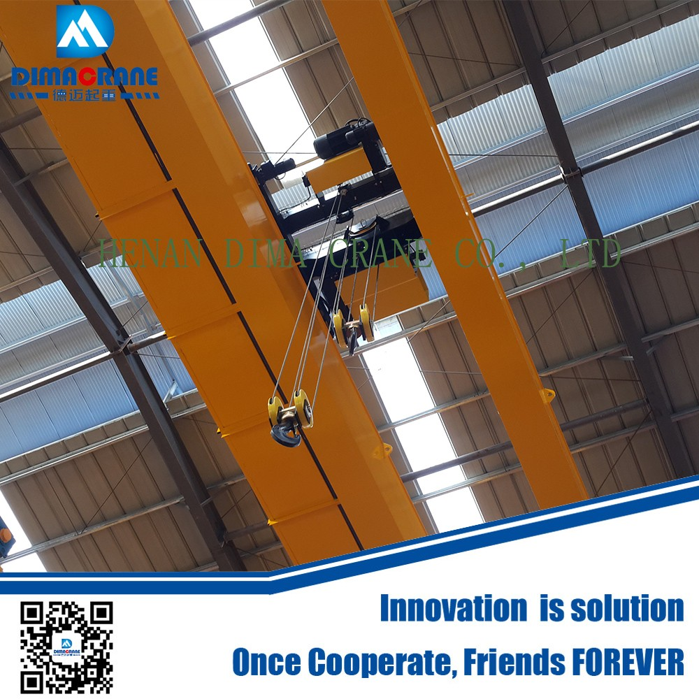 20ton European style double girder electric overhead traveling crane