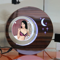 LED suspending in the air magnetic levitation photo frame small gift items