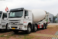 sino most reasonable price 8x4LHD concrete transport mixer best trucks cement transportation mixer trucks in fiji