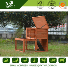 Wholesale firm secure large wooden rabbit hutch trays for outdoor use