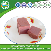 Packaging in can beef luncheon meat for export