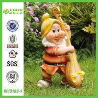 Garden Gnome Statue Imitate Ceramic Figurine