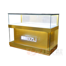 New design glass display cabinet cell phone display counter mobile display case