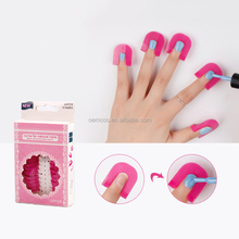 26Pcs Curve Shape Spill-proof Finger Cover Nail Polish Protector Holder Set