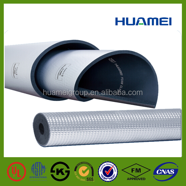 aluminum foil Fire-retardant Pipe Insulation Rubber Foam