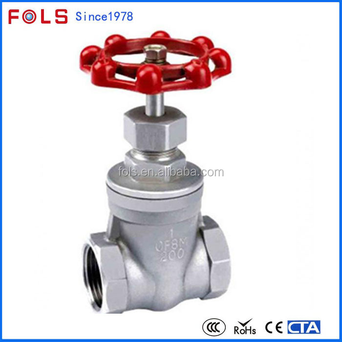 handle stainless steel non rising stem screwed ends gate valve 1 inch