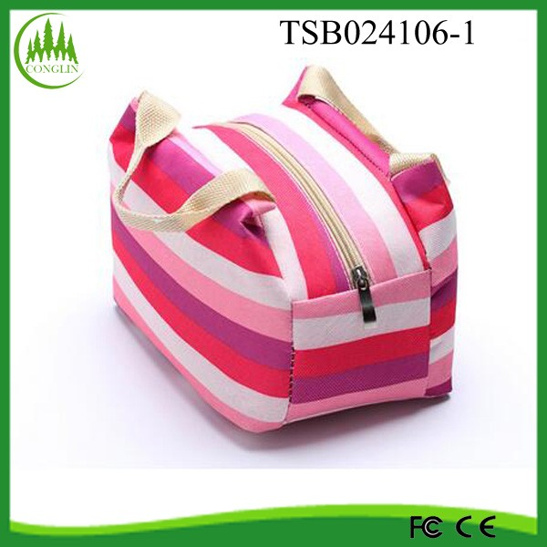 portable aluminum foil lined cooler bag polyester thermal insulated lunch bag fitness cooler bag