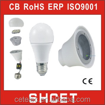cet-006n plastic and aluminum a60 smd 7w led lamp