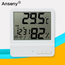 digital electronic Indoor and Outdoor Baby Digital Household Thermometer hygrometer with calendar multifunciton