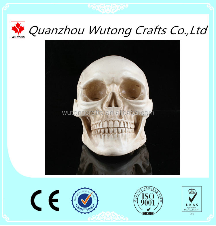 New craft white Human Skull Replica Resin Model Medical Lifesize Realistic 1:1