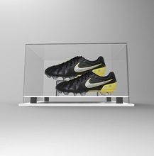 high quality clear double sided acrylic shoe display case wholesale