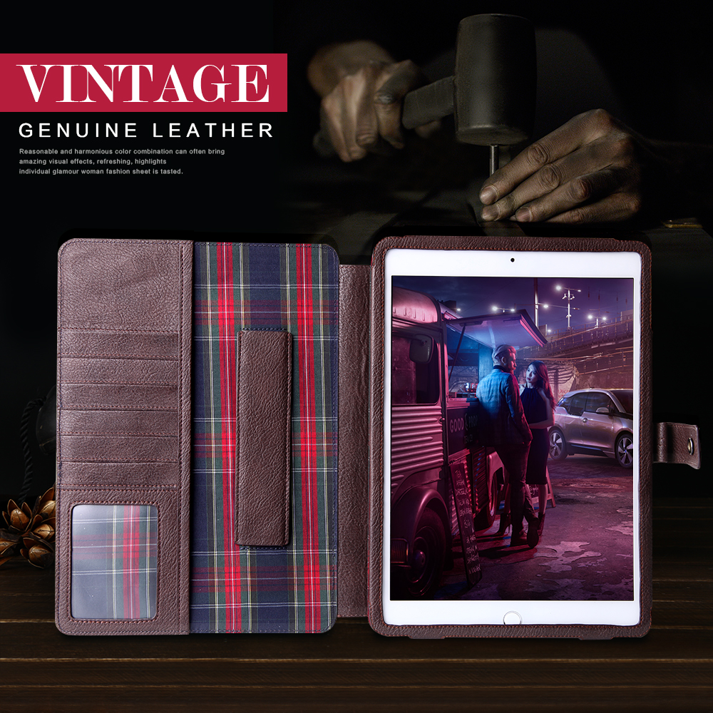 High Quality 100% Genuine Leather Luxury Case For Ipad With Unique Design