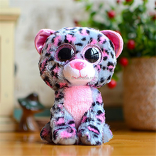 Good quality TY rainbow color Big eyes lovely one-horned animal hair plush toys