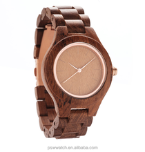 Charm, fashion type three clock hands Japan movt mix color quartz watch unisex wooden watch