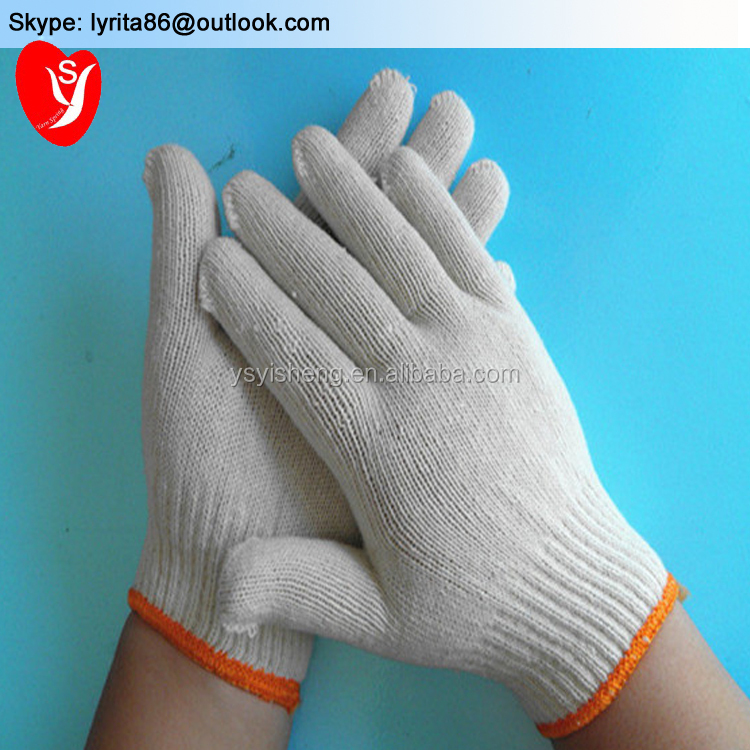 45g <strong>A</strong> Grade Cotton Knitted Gloves, protect hands Safety Gloves