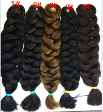 Hot Selling jumbo braiding hair, synthetic hair braids, wholesale synthetic hair