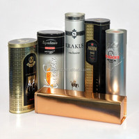 high end design high cylindrical metal wine packaging
