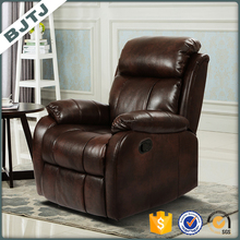 BJTJLuxury brown leather sofa single recliner sofa70203