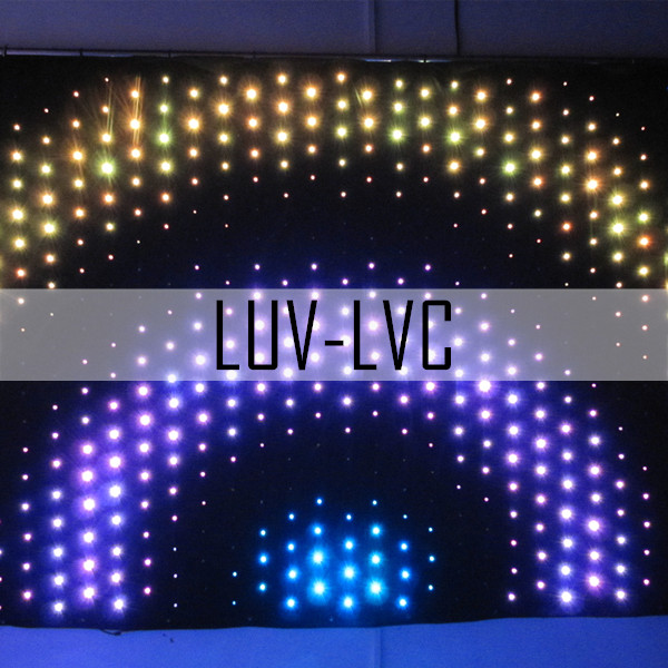 High quality diy led curtain,led curtain screen P90mm