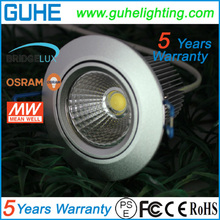 Taiwan MeanWell driver 85-277VAC led downlights dimmable 9w 7W with 5 years warranty