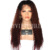 Kinky Curly Ombre Human Hair Wig Pre Plucked Lace Front Wigs For Black Women