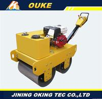 Factory direct supply 700mm gasoline engine,Exciting force 30kN walk behind road roller,used road roller for wholesales