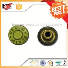 Factory fancy custom vintage metal buttons for garment
