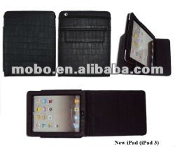 Multifunctional flap leather case for iPad 3