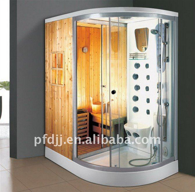 Traditional sauna with steam shower room