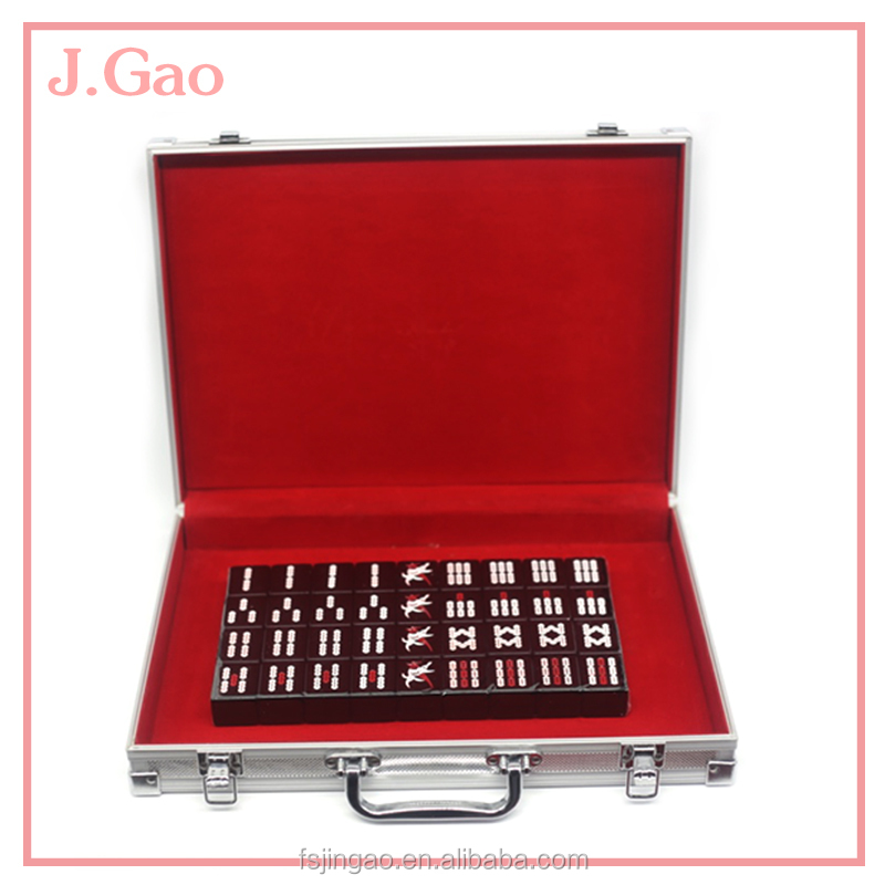 High Quality Custom Black Melamine Chinese Mahjong Sets