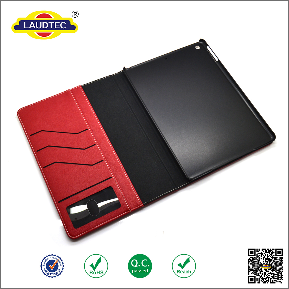 Folding Flip Leather Case Cover For Ipad Air Case with Stand function & Card Slots -----Laudtec