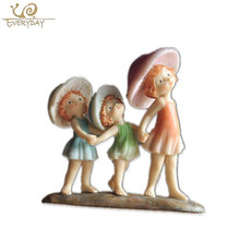 Wholesale Home Garden Art Minds Crafts Cheap Small Baby Girl Souvenir Gift Items Resin Nativity Pixie Fairy Figurines