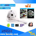 Bessky Wireless Night Vision P2P Indoor Security Surveillance WiFi Cam 3MP 360 Degree Fisheye Panoramic CCTV VR IP