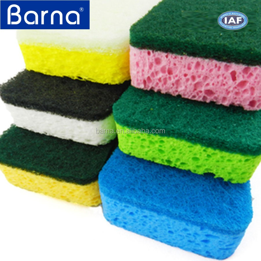 Household item cellulose sponge souring pad,non-abrasive scouring pad Sponge