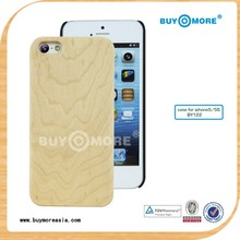 high quality and eco-friendly maple wooden flip bumper cover for iphone 5c