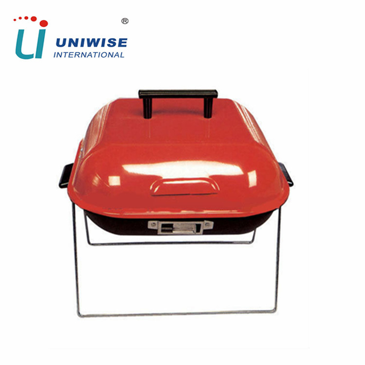 Portable Foldable Hamburger Shape Cooking BBQ Grill