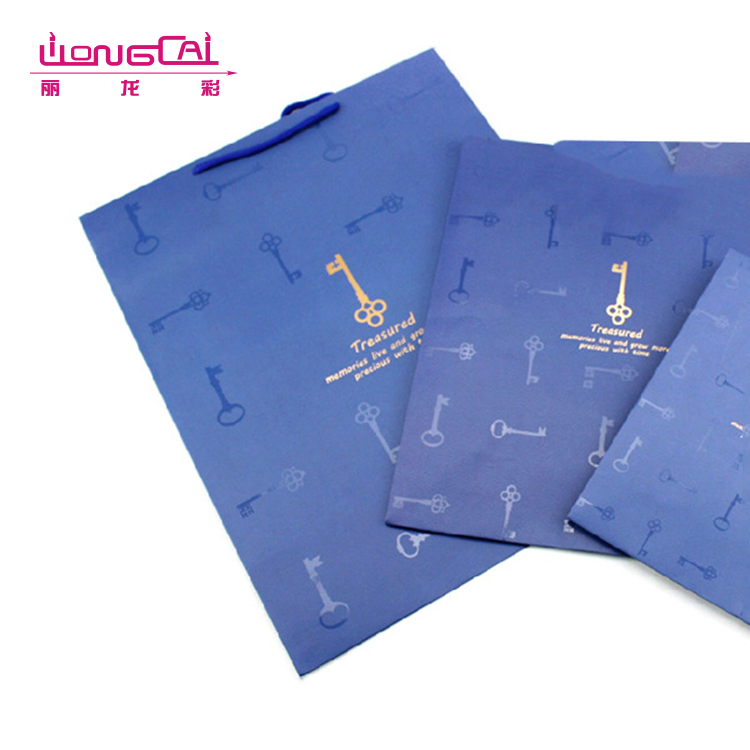Promotional famous brand eco-friendly recycle handle paper carrier bag