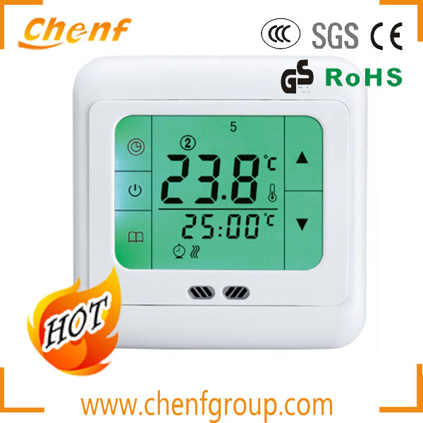 Hot Sell Touch Screen LCD Display Digital Room Heating Thermostat For Floor Heating 220V
