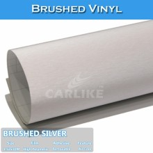 CARLIKE Silver Self Adhesive Brushed Auto Color Change Stickers