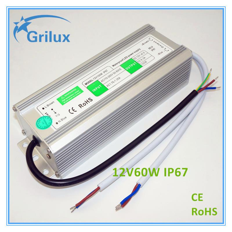 Shenzhen Factory Price led dali driver dimmable led drivers emergency led driver CE&RoHS 12V60W IP67