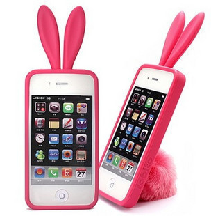 Lovely Rabbit Ear Silicone mobile Phone case/cover