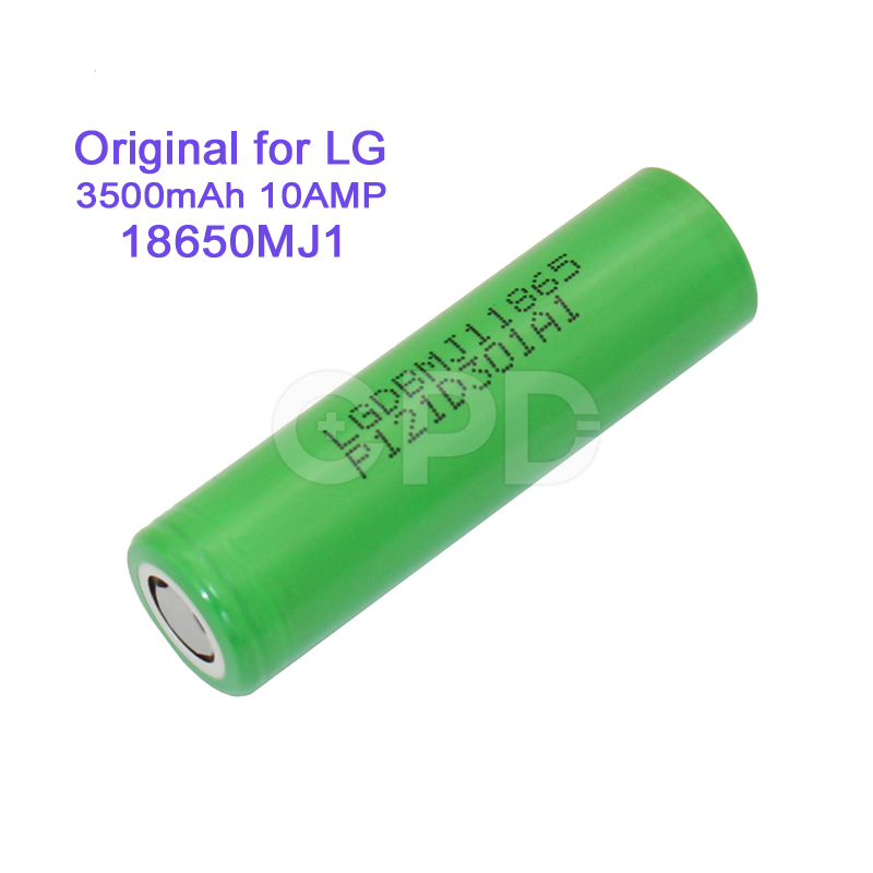 original LG MJ1 3.7v 18650 rechargeable li ion battery for electric bike/electric cigarette battery