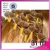 100% cuticles intact popular flat tip human hair