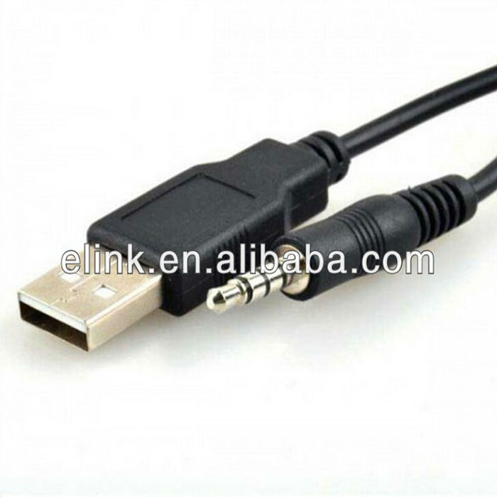 USB 2.0 Male to 3.5mm Stereo Headphone Jack Cable usb to stereo mini plug cable