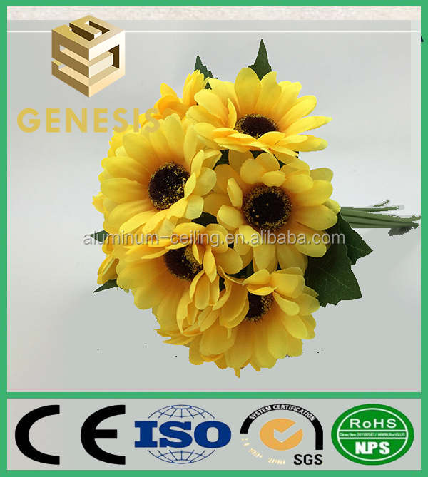 Home Decoration Silk Sunflower real touch fake flower