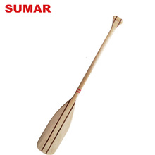 Wholesale China factory high quality striated blade boat oars wooden dragon boat paddle for sale