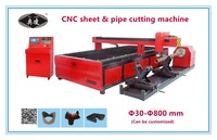 Low cost heavy duty desktop cnc plasma cutter for metal pipe and plate